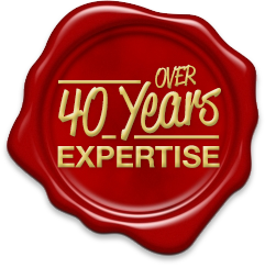 Over 40 Years Expertise Seal