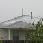 austin roof with hail