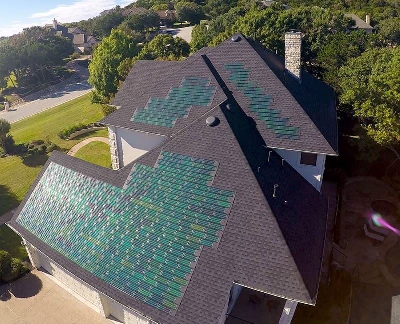 House On Elizabeth With Solar Shingles