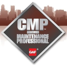GAF certified maintenance professional badge