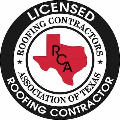 licensed roofing contractor seal from the roofing contractors association of texas